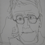 Sukie Curtis-sketch-Self Portrait 2